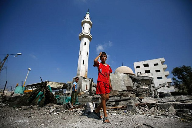 Esta es otra mezquita, Al Aqsa, también en Gaza, destruida por un ataque aéreo el 21 de julio. Foto: EPA