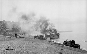 Dieppe, Landungsversuch, zerstörtes Kriegsgerät