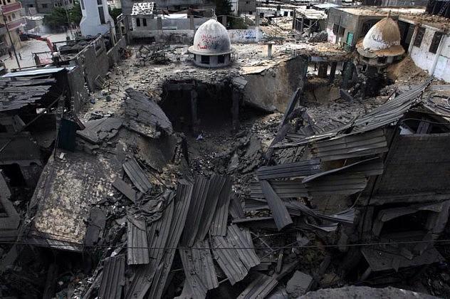 Mezquita Al Farooq en Gaza. Foto:  @pakstartv