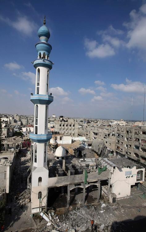Mezquita Al-Farouq bombardeada por Israel.