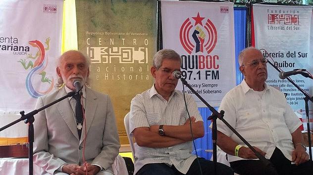 Exposición a tres voces, a cargo de los antropólogos Adrián Lucena Goyo, Mario Sanoja y Luis Molina
