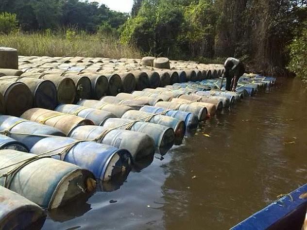 55 mil litros de gasolina fueron incautados a contrabandistas este sábado, informó Padrino López a través de su Twitter.