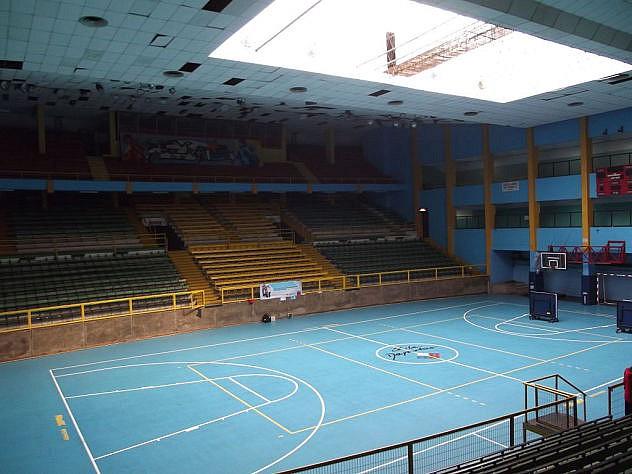 El estadio Chile (hoy Estadio Víctor Jara), donde fue asesinado el cantante. Foto: Jaime Soto Ceura