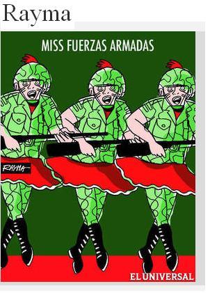 Rayma caricatura militares