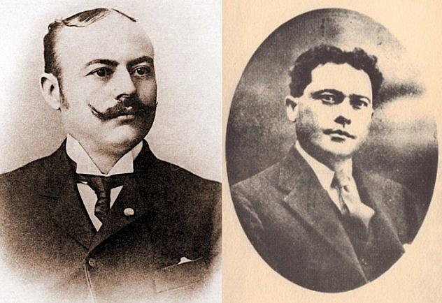 Pedro Elías Gutiérrez (izq.) y Rafael Bolívar Coronado