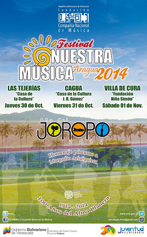 1. Afiche. Festival Nuestra Música - Aragua 2014