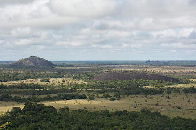 El Palomo, pueblo mapoyo. Vista desde el cerro Caripito. Fotografía de Gustavo Lagarde.