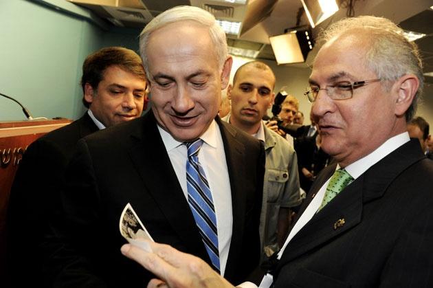 En mayo de 2012  Ledezma sostuvo un encuentro con el Primer Ministro de Israel, Benjamín Nentayahu, a quien le expresó la disposición de restituir las relaciones con su país