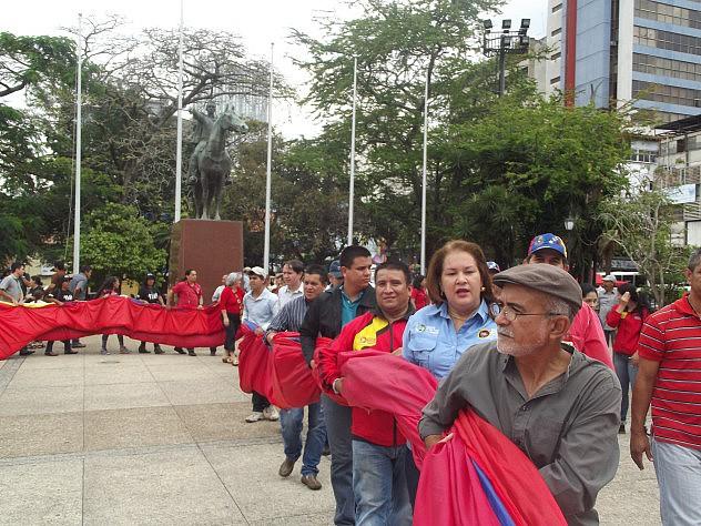 Tachirenses marcharon con la bandera hasta la plaza Bolívar exhibiendo el fruto del trabajo colectivo(1)