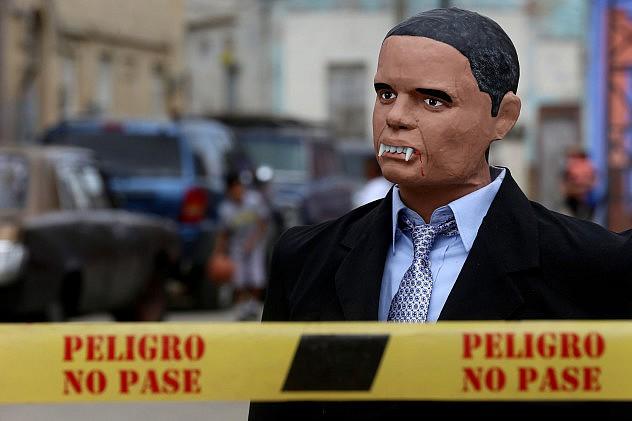 """El """"Obama"""" que ardió en San Agustín. Foto: Gregorio Terán, AVN"""
