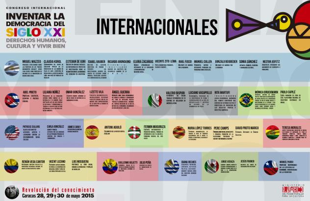 Haga click para ver en mayor tamaño los invitados internacionales