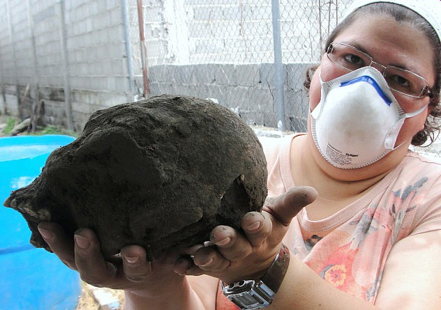 F1- El cráneo corresponde a una persona de origen aborigen