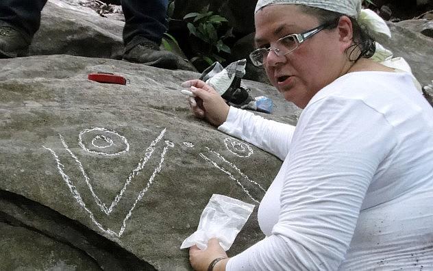 F3- Los petroglifos también fueron elaborados por los