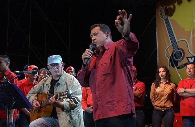 Silvio Rodriguez Con Hugo Chavez