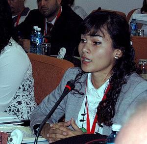 17 de Septiembre del 2015 en el Palacio de las Convenciones, sala 5 se presentaron los paises del ALBA que ahi se encontraban en la imágen la representante de la República Bolivariana de Venezuela se presentó.Fotos: César A. Rodriguez.