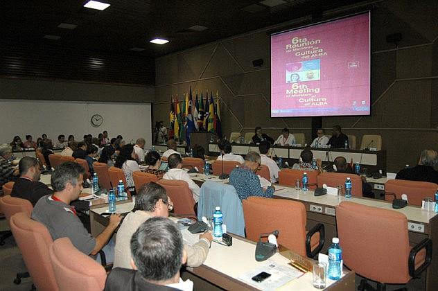 17 de Septiembre del 2015 en el Palacio de las Convenciones, sala 5 se presentaron los paises del ALBA que ahi se encontraban en la imágen una vista general de la sala.Fotos: César A. Rodriguez.