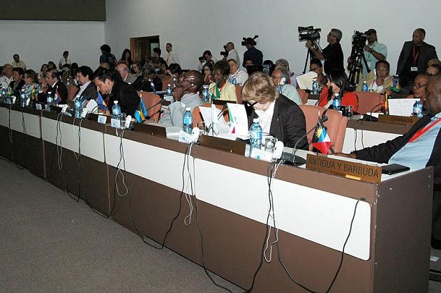 18 de Septiembre del 2015 sala 4 del Palacio de las ConvencionesMinistros de Cultura,En la imágen Una vista general.Fotos: César A. Rodriguez.