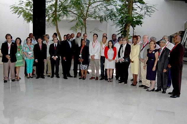 18 de Septiembre del 2015 sala 5 del Palacio de las Convenciones Ministros de Cultura de la CELAC En la imágenel grupo de Ministros de Cultura que participaron en el evento.Fotos: César A. Rodriguez.evento CELAC