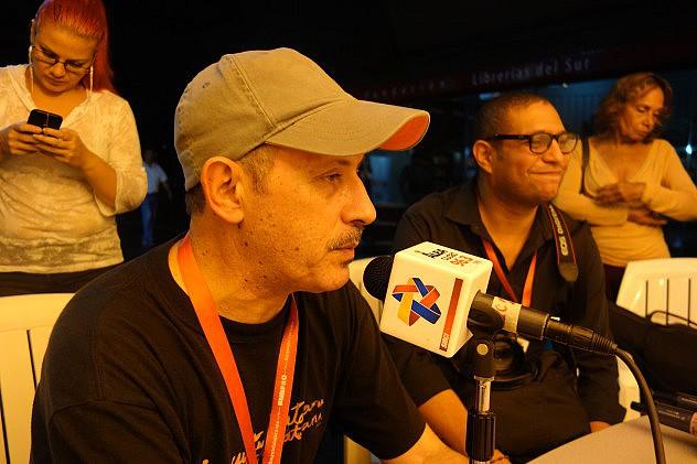 Enrique Blanc (México) y Williams Padrón (Ven.), programadores musicales. Foto: Randolph Borges