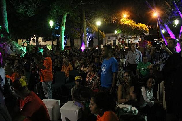Festival de Cine Margarita 2015. Acto y proyección de cine en sala y comunidad. Foto: Milangela Galea