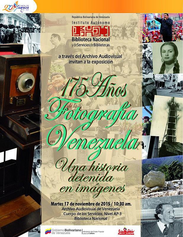 cartel exposicion 175 años de la fotografia en vzla