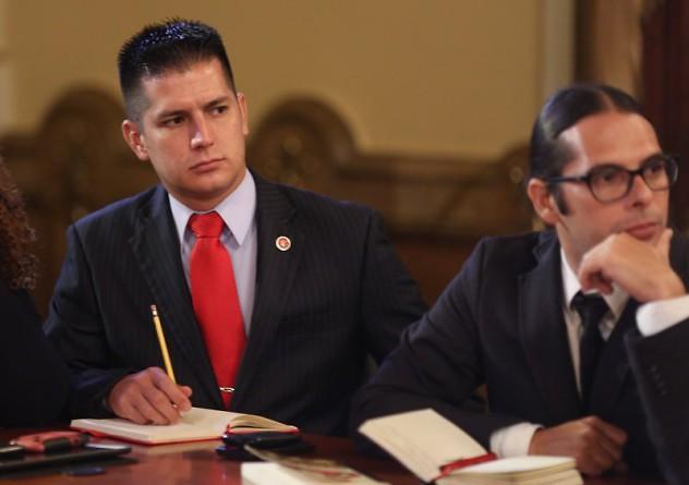 Mervin Maldonado junto a Freddy Ñáñez (Foto: @PresidencialVen)