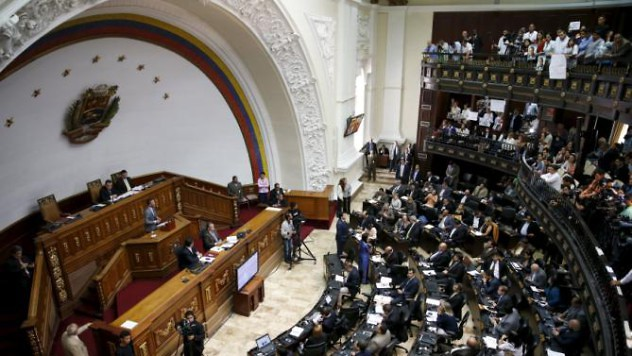 A general view of Venezuela's National Assembly during a session in Caracas, February 4, 2016. Local media report that a draft amnesty law for jailed politicians and activists will be on Thursday's National Assembly agenda. REUTERS/Carlos Garcia Rawlins