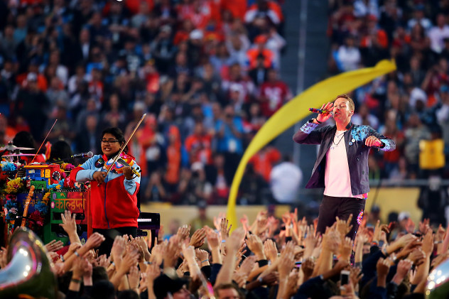 during the Pepsi Super Bowl 50 Halftime Show at Levi's Stadium on February 7, 2016 in Santa Clara, California.