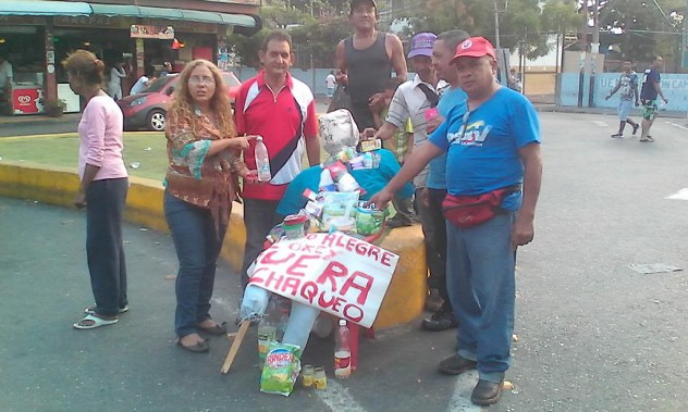 Quemaron al Judas bachaquero en Maracay. Foto: @elbrakix