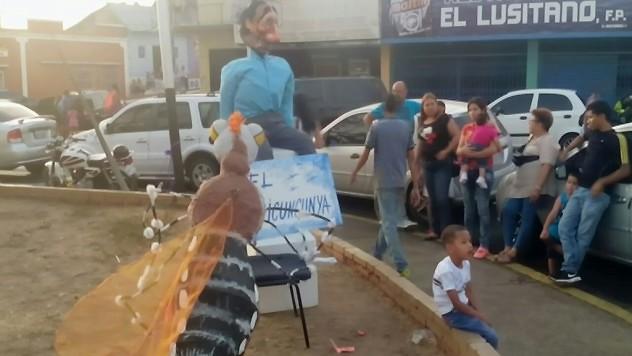 En Bolívar quemaron al chikungunya. Foto: @Misionculturave