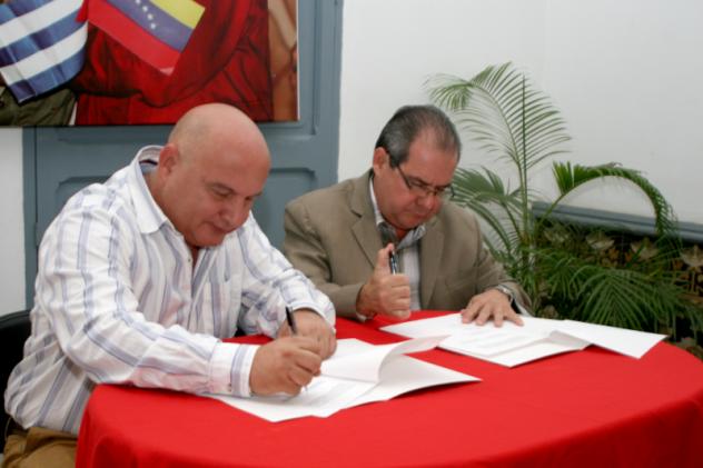 Alexis Seijo (der) y Alexis Triana (izq)