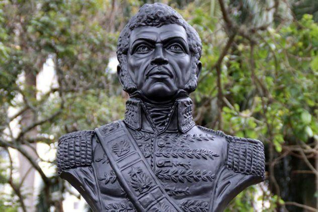 Busto de Petión en Cali. Foto: Extra.com.co