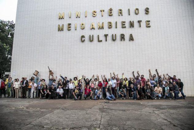 Protestas en Brasilia. Foto: @OximityPortugse