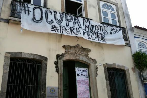 El martes fue ocupada una oficina regional del Ministerio de Cultura en Salvador de Bahía