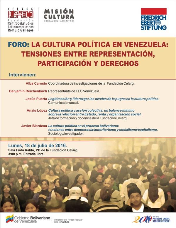 Afiche_foro_Cultura_politica