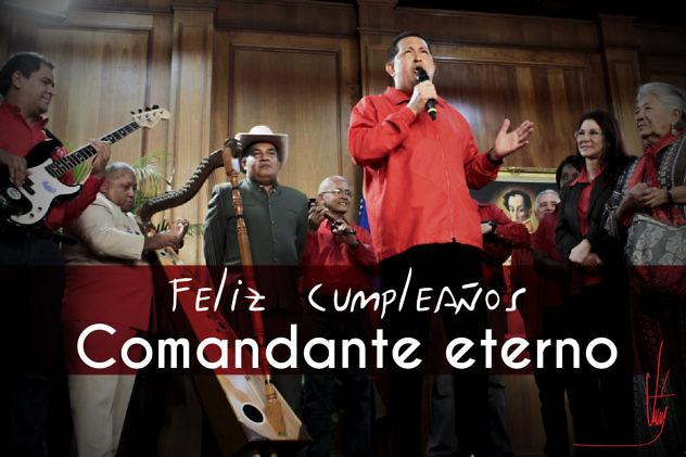 Chávez cantando