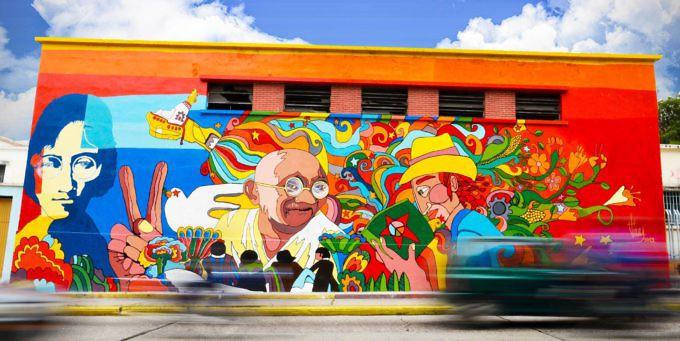 Murales alba ciudad 96 3 fm for Arte colectivo mural