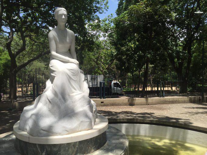 Monumento a Teresa de la Parra en el Parque Los Caobos. Foto: Guillermo Ramos