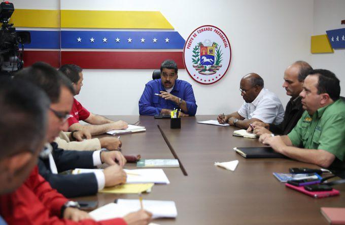 Reunión en Miraflores este viernes en la noche (Prensa Presidencial)