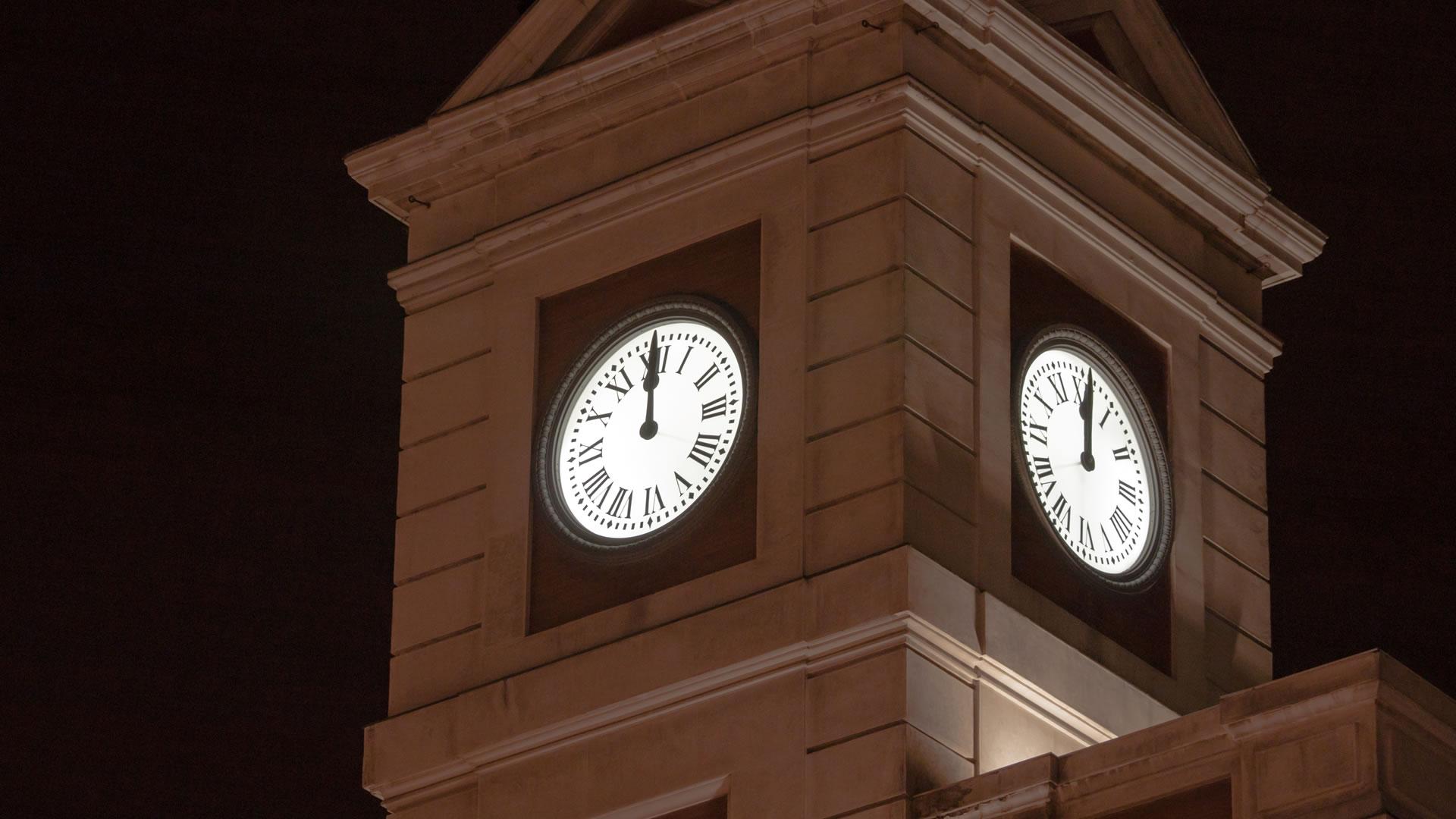 Hubo un error en los n meros romanos del reloj del parque for Puerta del sol 2017